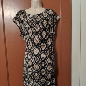APT. 9 -XL- STRETCH DRESS-RUCHED SIDE